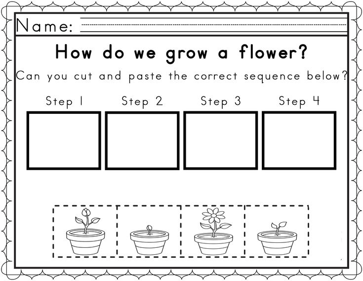 Worksheets For Sequencing In Spring Science Ideas