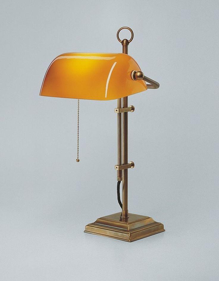 Bankers lamp real Brass Bankers Lamp Office Orange Desk lamp