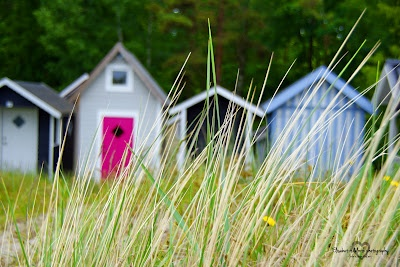 Beach huts in Ystad, Sweden