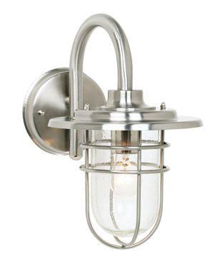 John Timberland Stratus Nickel Indoor - Outdoor Wall Sconce #interiordesign #modernlighting See more http://www.eurostylelighting.com/