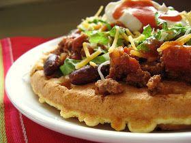 Navajo Taco Waffles. Or tex mex waffles