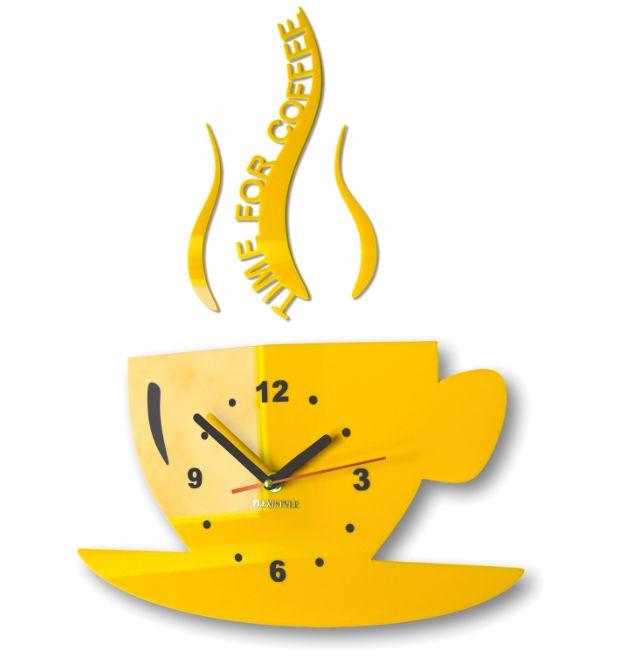 Kuchynské nástenné hodiny Time for coffee