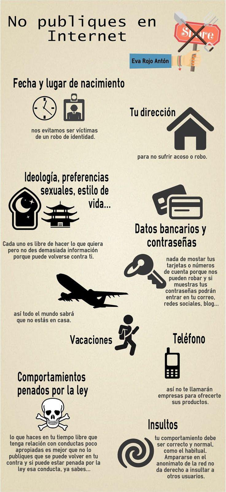 Técnico en formación: Infografia: no publiques en Internet