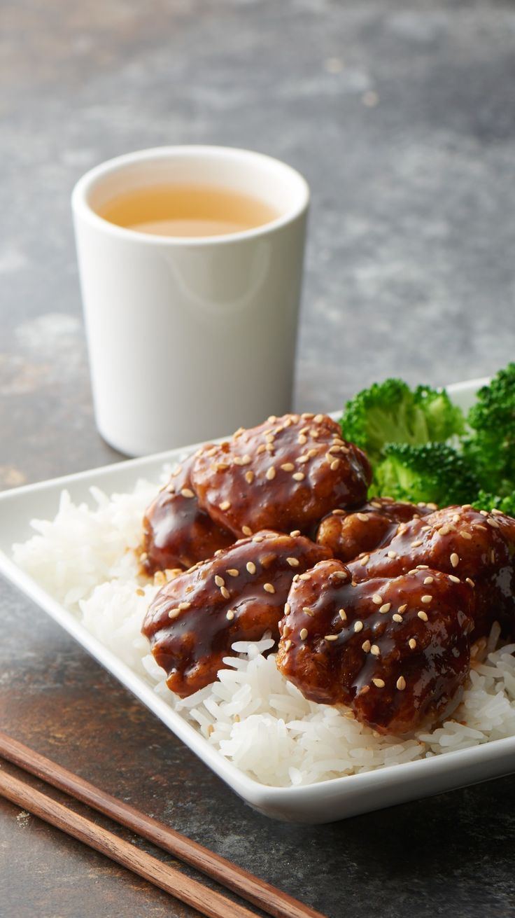 Easy Sesame Chicken - Hack your favorite Chinese take-out recipe with this super quick and easy version of sesame chicken.