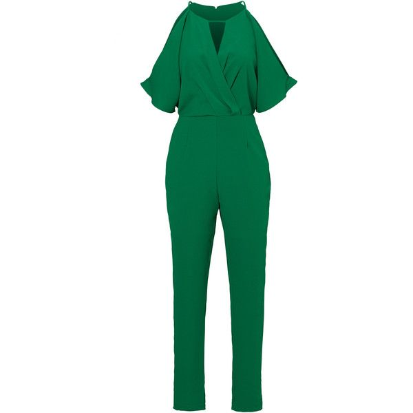Rental Adelyn Rae Green Kimono Sleeve Jumpsuit ($30) ❤ liked on Polyvore featuring jumpsuits, dresses, green, jump suit, green jumpsuit, kimono sleeve jumpsuit, adelyn rae and sleeveless jumpsuits