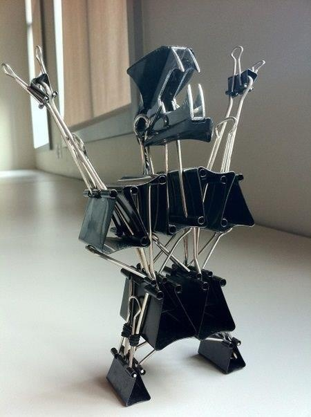 Office Supplies Monster! My boss has a million of these clips. I could make this!!!!! :D