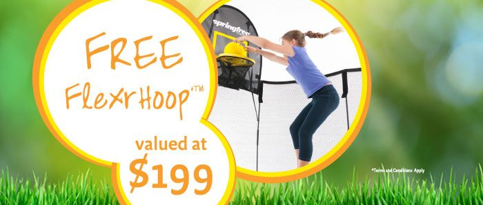 Get a FREE FlexrHoop when you buy any Springfree Trampoline! | Springfree™ Trampoline Australia