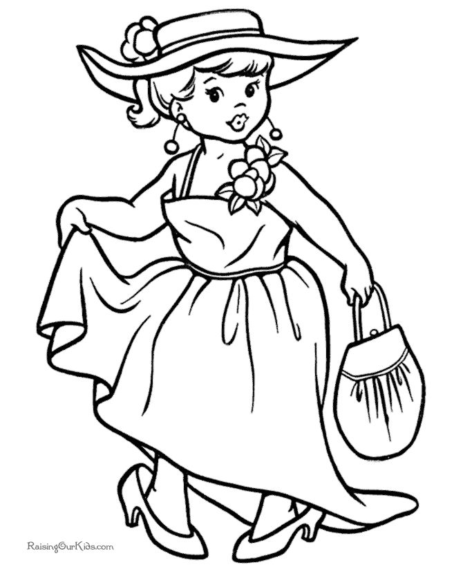 free halloween girl coloring book pages - Books Coloring Page