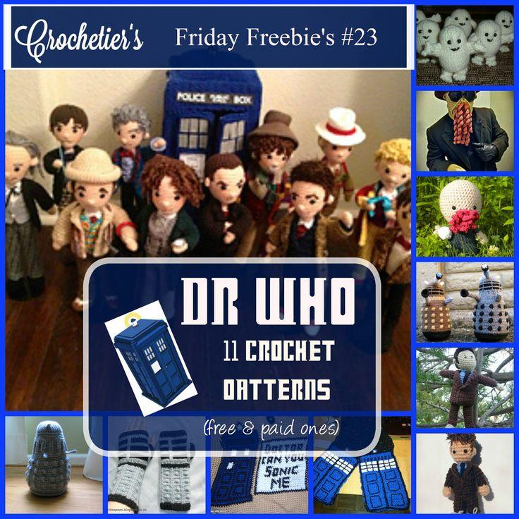 Friday Freebie's #23 Dr. Who Special | Crochetier.com