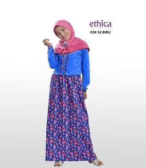 Baju Gamis Anak Ethica OSK 53 Biru Ready Size 9