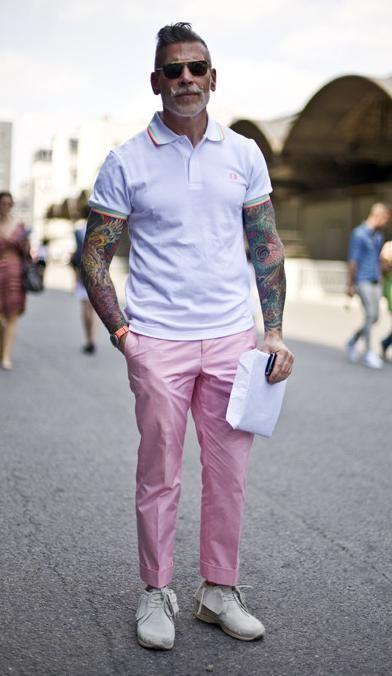 Tons Pastéis, Tons Pastéis Masculinos. Macho Moda - Blog de Moda Masculina: TOM PASTEL em Alta no Visual Masculino, pra Inspirar! Roupa de Homem Primavera, Moda para Homens, Estilo masculino, Calça Rosa Pastel,