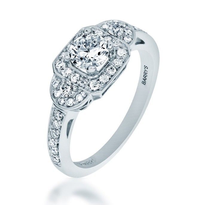 Maple Leaf Diamond Engagement Ring (75813). $3,340.