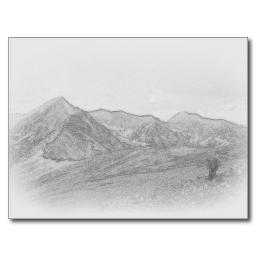 Mountain Landscape sketch Postcard