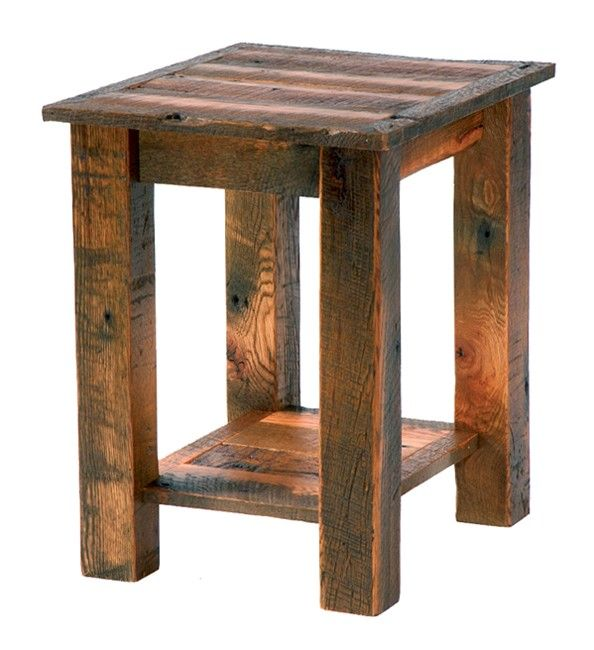 Rustic end tables google search diy projects i might for Diy rustic end tables
