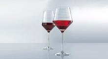 Pure Lines - moderní krásné sklenice s vybroušenými linkami po obvodu