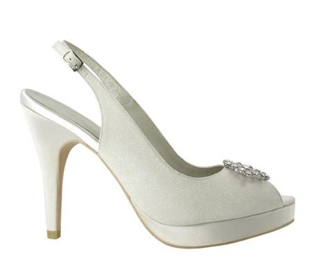 Menbur - zapatos de novia zapato novia glitter y ornamento