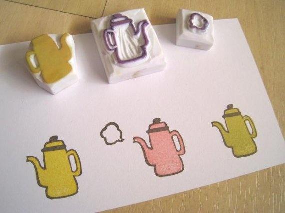 Fun Teapot Set - stamps