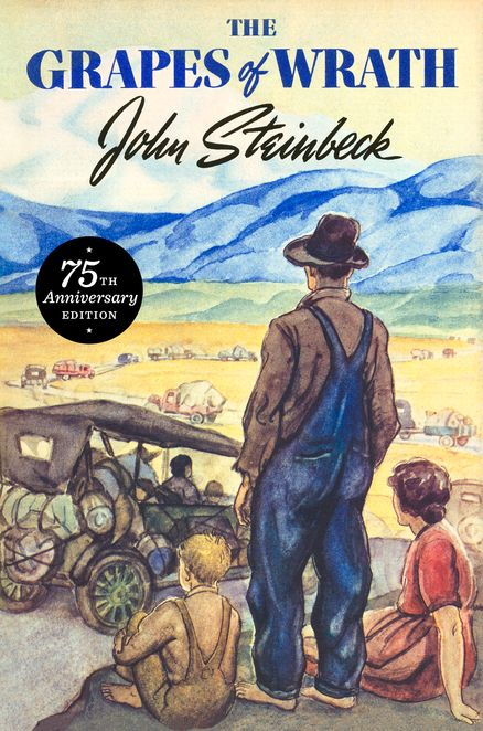 THE GRAPES OF WRATH 75TH ANNIVERSARY EDITION by John Steinbeck -- April 2014 marks the 75th anniversary of the first Viking hardcover publication of Steinbeck's crowning literary achievement.