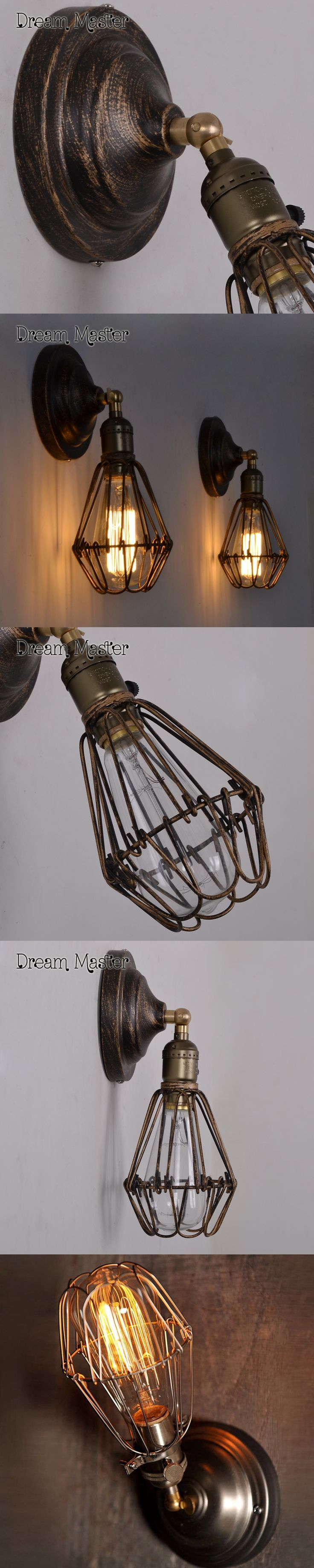 Industrial wind American Rural retro creative iron art bedroom Bar Cafe  corridor balcony outdoor wall lamp