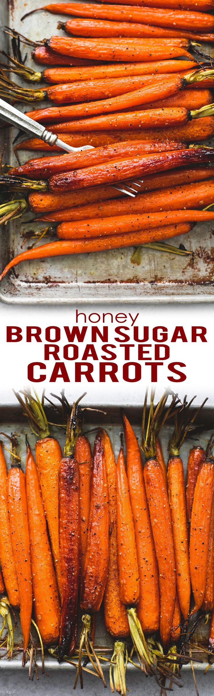 Honey Brown Sugar Roasted Carrots   lecremedelacrumb.com