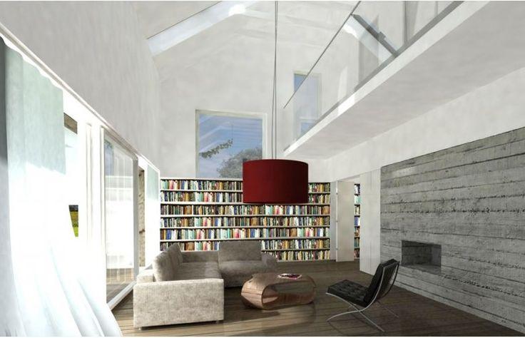 Pokój w projekcie DOMO 12 to idealny pomysł dla fanów dobrej książki i czasu dla siebie!