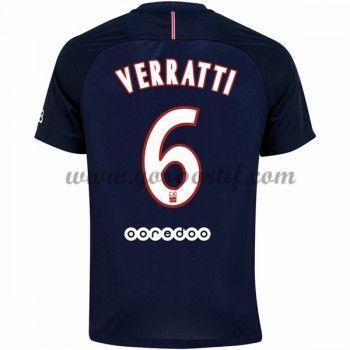 maillot de foot Ligue 1 Paris Saint Germain Psg 2016-17 Verratti 6 maillot domicile