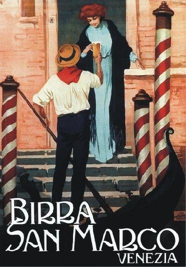 TARGA VINTAGE  BIRRA SAN MARCO VENEZIA  Pubblicità, Advertising, Poster, Plate