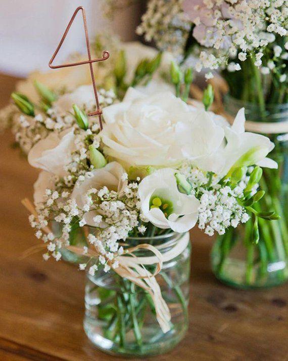 Draht Tischnummern – rustikale Hochzeit Tischnummern – Rezeption Tischnummern – Hochzeit Tischnummern – Hochzeitsdeko – Rezeption Dekor