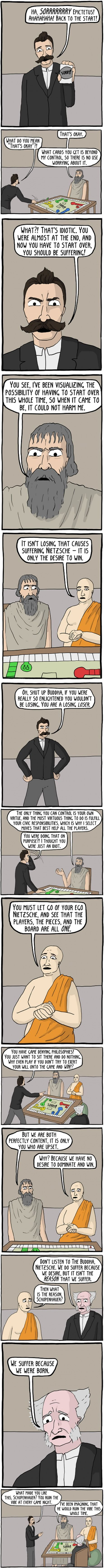 Philosophical gaming (By Existential Comics)