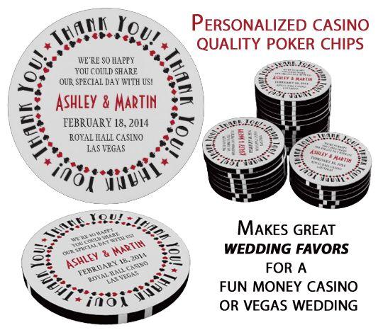 Vegas Casino Card Suits Wedding Thank You Favor Poker Chips Zazzle