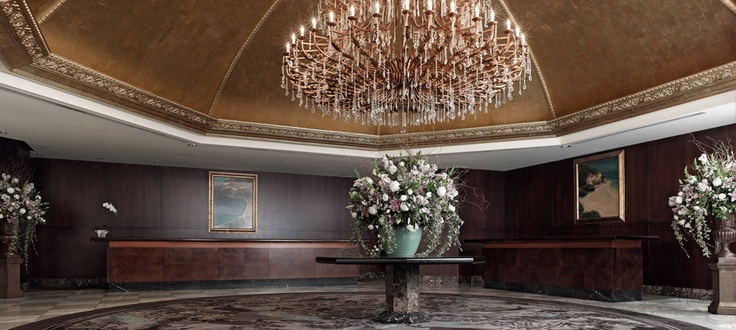 The lobby at The Langham hotel, Auckland