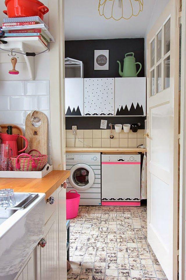 The Blue Post: Ideias para decorar a área de serviço + poster guia da lavanderia