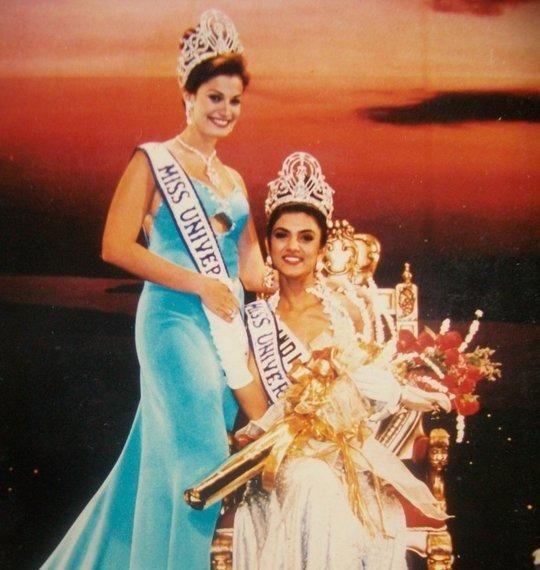 Dayanara and Sushmita Sen