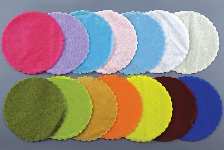 Τούλια για μπομπονιέρες βάπτισης στρόγγυλα ποιότητας λιζιόν σε σχήμα συννεφάκι στο τελείωμα.Ιδανικό για μπομπονιέρες βάπτισης σε ποικιλία δεκαέξι χρωμάτων για να κάνετε χρωματικούς συνδιασμούς που εντυπωσιάσουν.  3,90 €