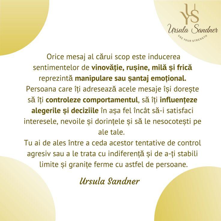 Manipulare si santaj emotional