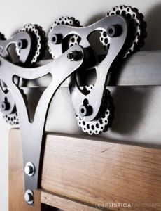 Rustica Hardware has EVERY kind of barn door hardware you could imaging!  This is Double Triangle Barn Door Hardware 3