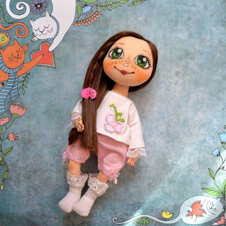 Купить Текстильная интерьерная кукла - розовый, кукла, кукла в подарок, купить подарок, куклы и игрушки