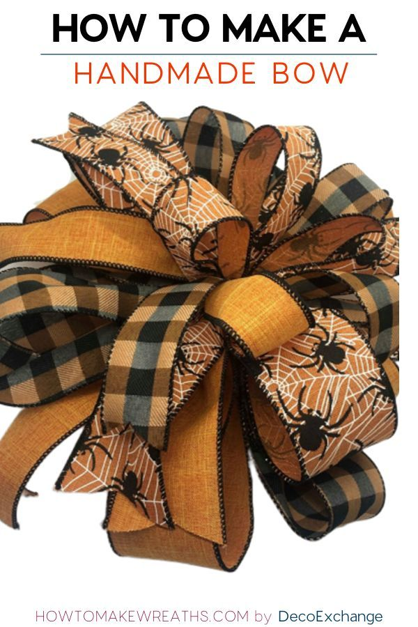 How To Make A Handmade Bow For Wreaths By Deco Exchange How To Make Wreaths Homedecor Wreaths Howtomakewreaths Diy Wreath Bow Handmade Bows Homemade Bows