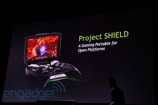 Pimp slapping the console world: NVIDIA unveils Project Shield, a Tegra 4-powered Android gaming handheld