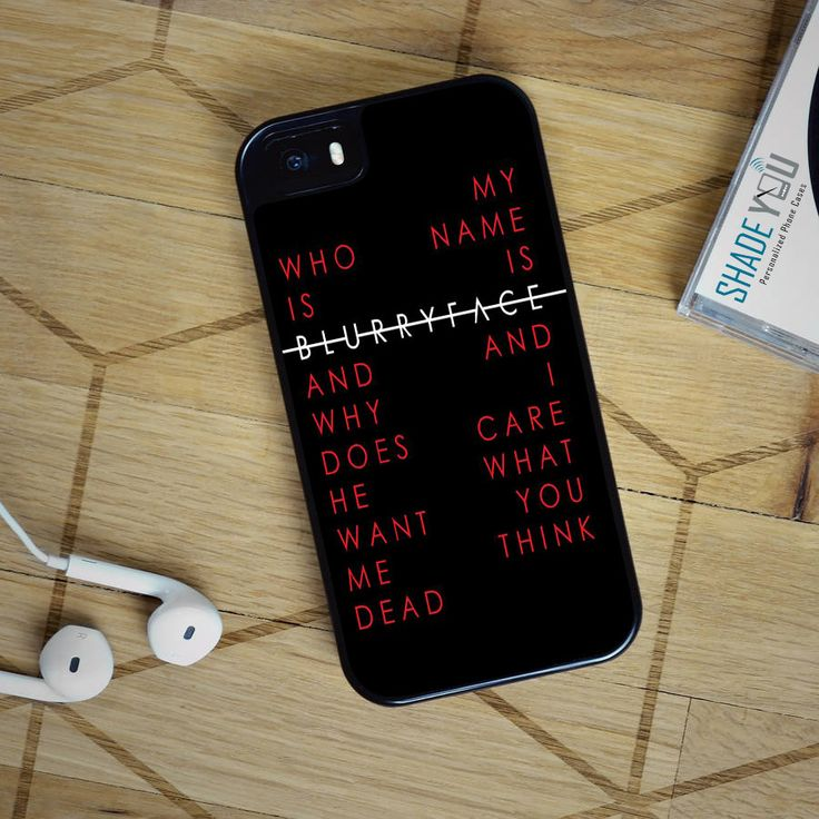 Twenty One Pilots Stressed Out Blurryface Lyrics - iPhone 4/4S, iPhone 5/5S/5C, iPhone 6 Case, plus Samsung Galaxy S4/S5/S6 Edge Cases - Shadeyou Phone Cases