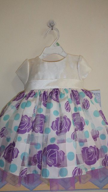 infant dress in printed organza fabric...so chic!