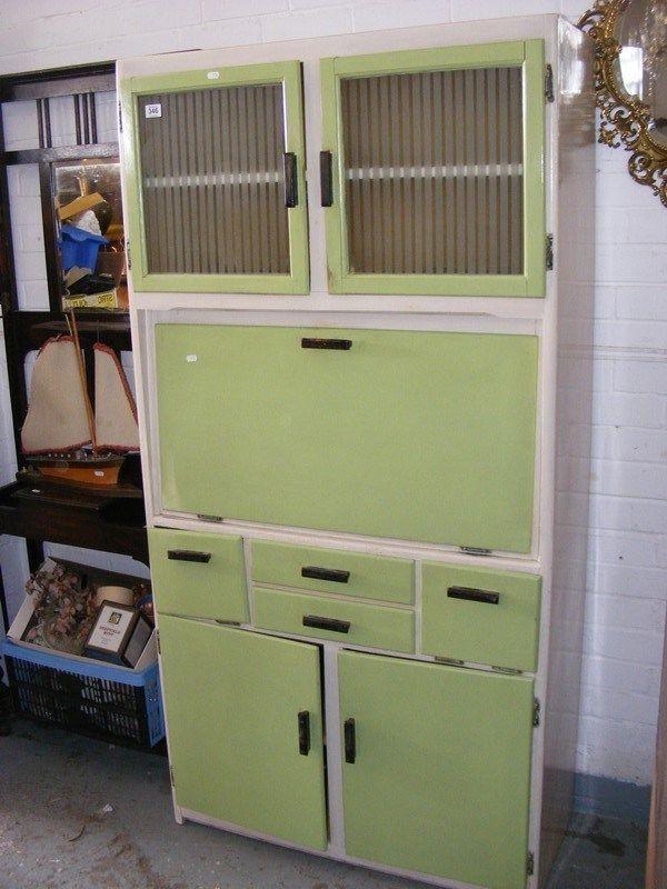 Vintage Retro 1950s Painted Finish Kitchen Larder Cupboard Unit