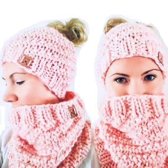 10eff0718 PATTERN: Spiral Snow Bunny Bun Beanie and Cowl Set Knitting | Etsy ...