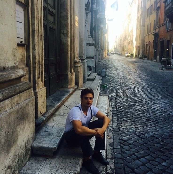 Seb in Rome on his birthday
