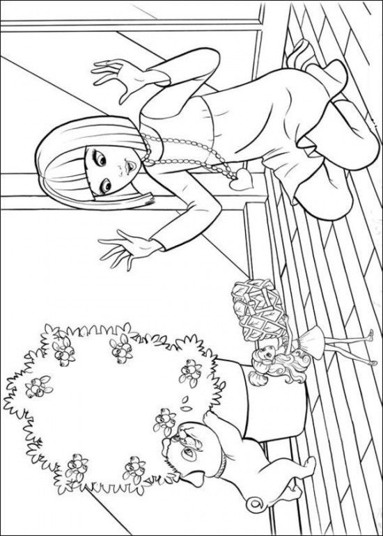 204 best Barbie Coloring Pages images on Pinterest | Coloring books ...
