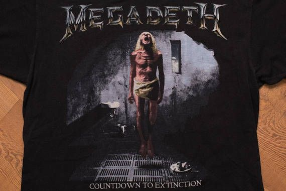 Megadeth Countdown to Extinction T-Shirt, 1992-93 Tour, Vintage 90s, Heavy Death Metal Band Graphic Tee