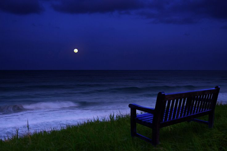 A front row seat to a full moon over the ocean on a lonely beach.  Perfection.