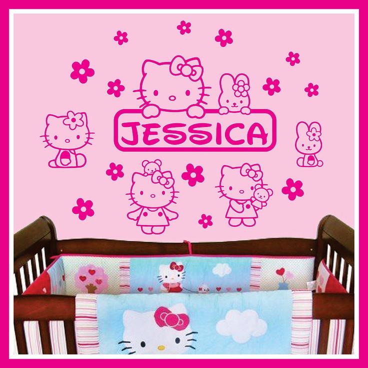 Best Examples Of Name Decals Images On Pinterest Kids Rooms - Custom vinyl wall decals nursery