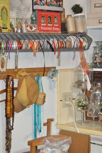 chicken feeder ribbon organization...love this idea  Available at American Home & Garden in Ventura CA.