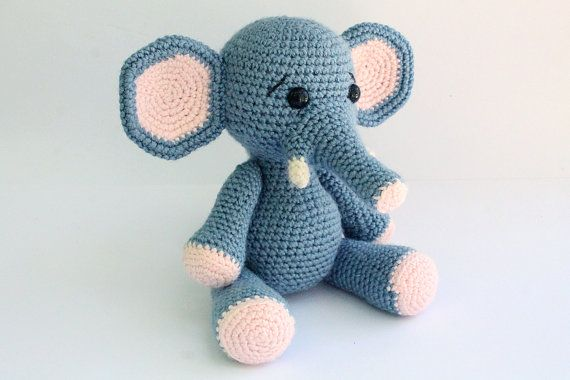 Please Read: This is a crochet pattern, not the finished product.  Size: The Elephant is about 24cm Tall (9inch)  This pattern is easy to follow but